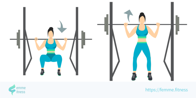 back squat femme.fitness illustration