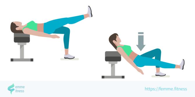 hip thrust femme.fitness illustration