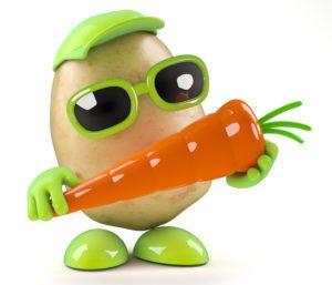 Méchante patate avec carotte