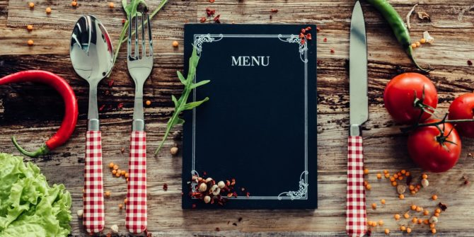 menu alimentaire