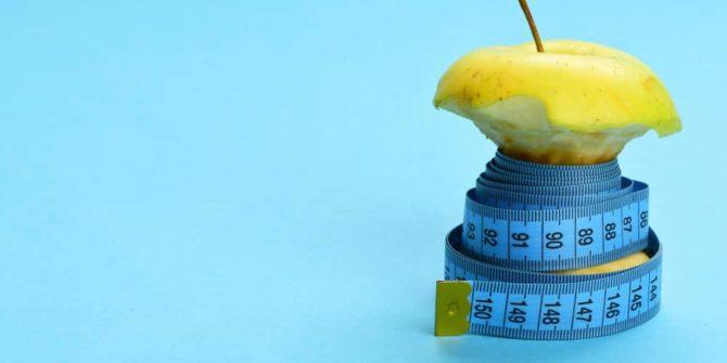 pomme sur le régime pour la perte de poids