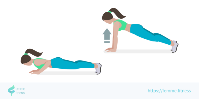 push up femme.fitness illustration