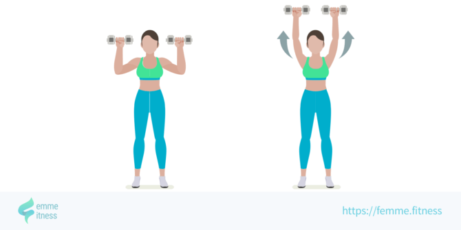 shoulder press femme.fitness illustration