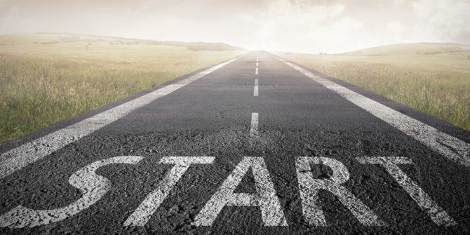 start sur une route