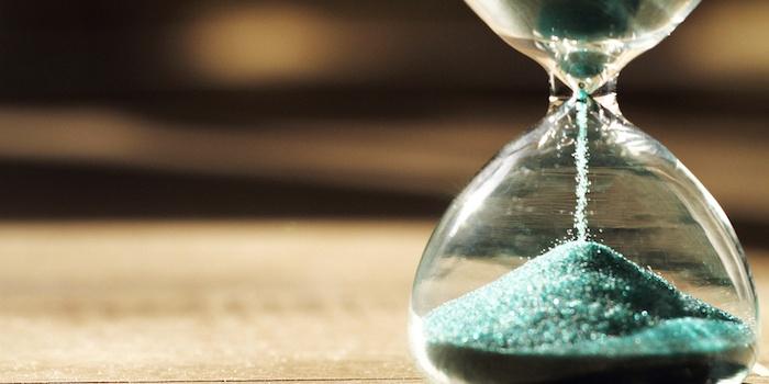 Sablier qui calcul le temps qui passe