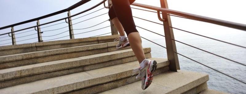 courir dans les marche