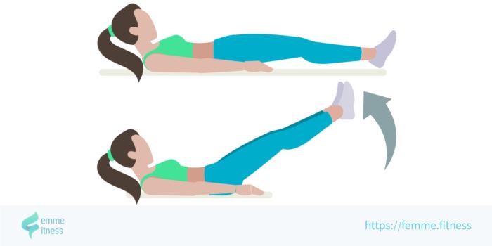 dessin de l'exercice de musculation du leg raise