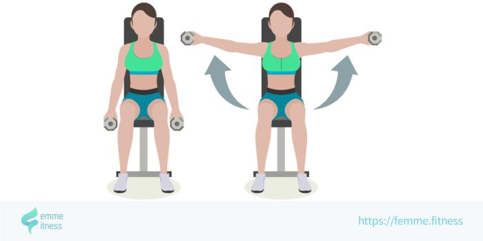 dessin de l'exercice de musculation de l'élévation latérale