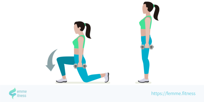 dessin de l'exercice de musculation du walking lunge