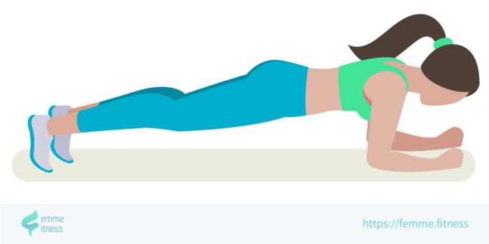 dessin de l'exercice de musculation de la planche abdominale