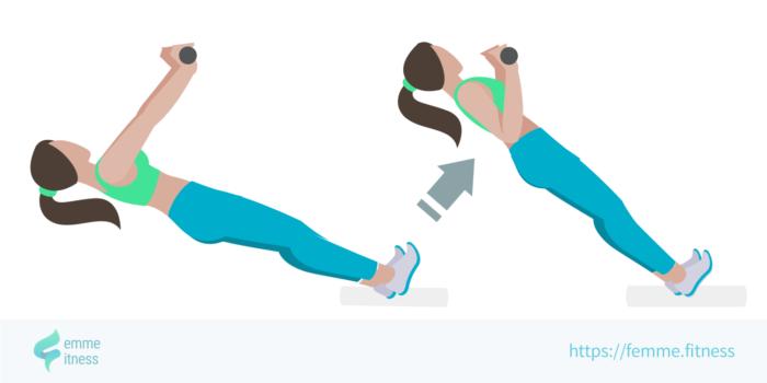 dessin de l'exercice de musculation du rowing inversé