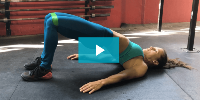 hip thrust (extension des hanches) au sol