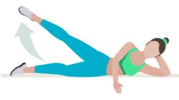dessin démonstratif de l'exercice de musculation des abducteurs