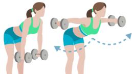 dessin démonstratif de l'exercice de musculation du bent-raise lateral