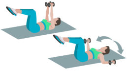 dessin démonstratif de l'exercice de musculation du fly