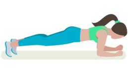 dessin démonstratif de l'exercice de musculation de la planche abdominale