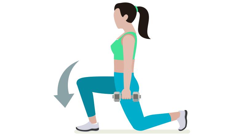 dessin démonstratif de l'exercice de musculation du walking lunge