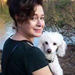 visage femme et chien