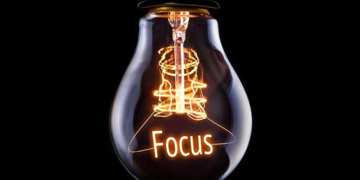 Ampoule écrit focus