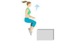 dessin démonstratif de l'exercice de musculation du box jump