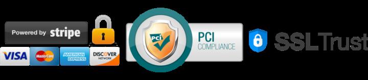 logos de sécurité de paiement