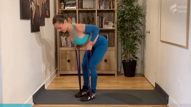 exercice du row à 2 bras corps penché