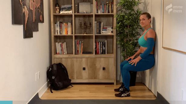 exercice de la chaise au mur