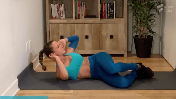 exercice du crunch de côté