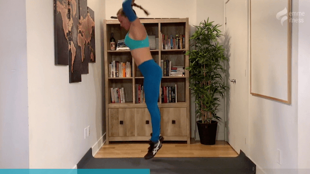 exercice du demi burpee