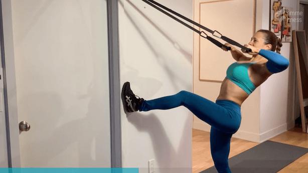 exercice du high row avec élastique