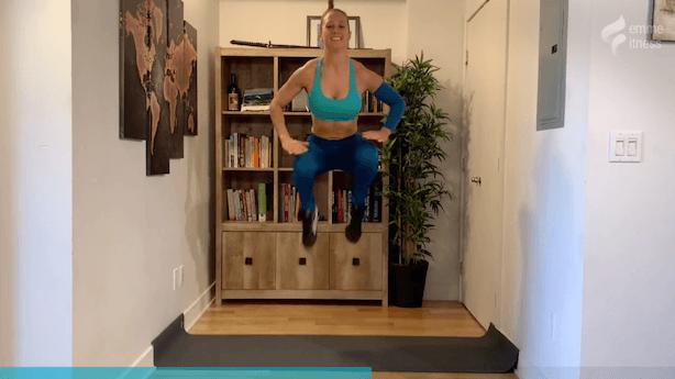 exercice du knee tuck