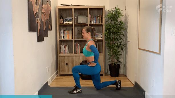 exercice du lunge arrière