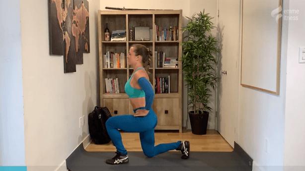 exercice du du lunge avant