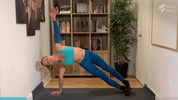 exercice de la planche sur le côté