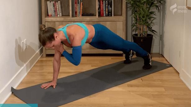 exercice de la planche abdominale tape épaule
