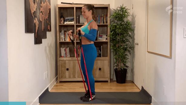 exercice du bicep curl prise renversé