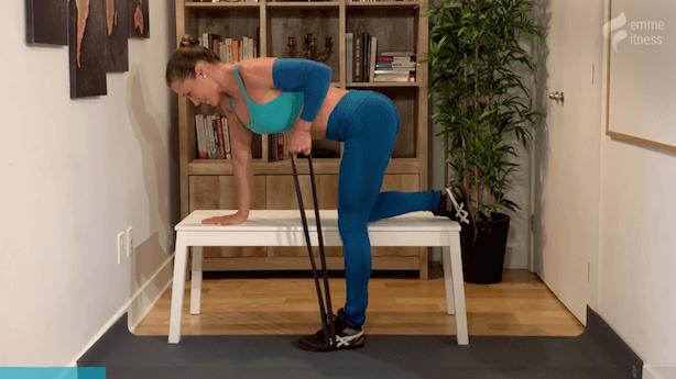 exercice du rowing sur banc