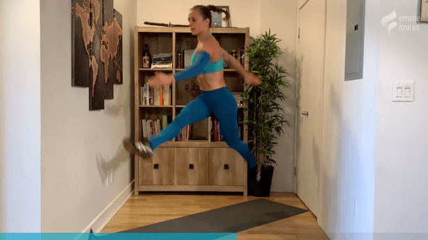 exercice du split squat jump and kick