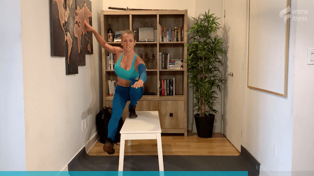 exercice du squat à 1 jambe