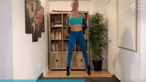 exercice du squat jump