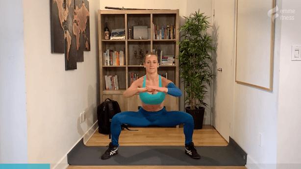 exercice du sumo squat