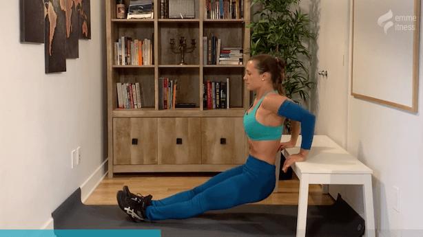 exercice du dip sur banc