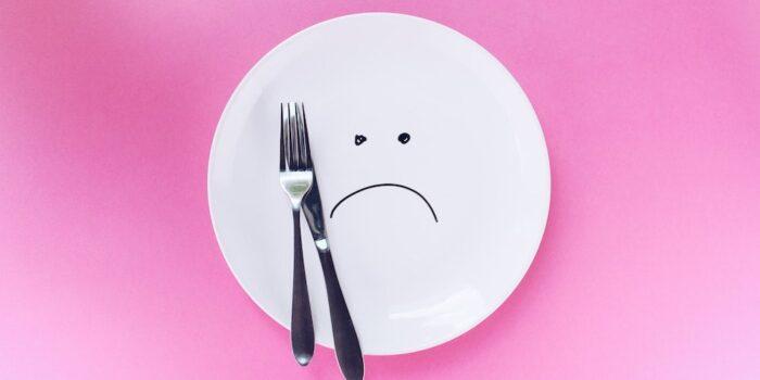 assiette pas contente