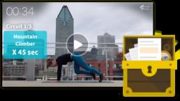 video workout et image de coffre à outils