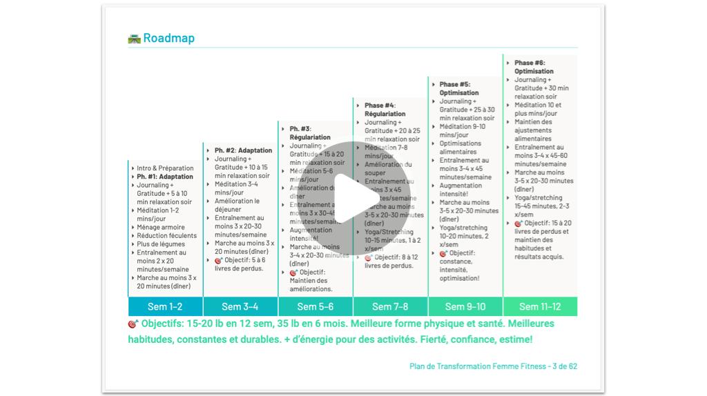 roadmap sur 12 semaines