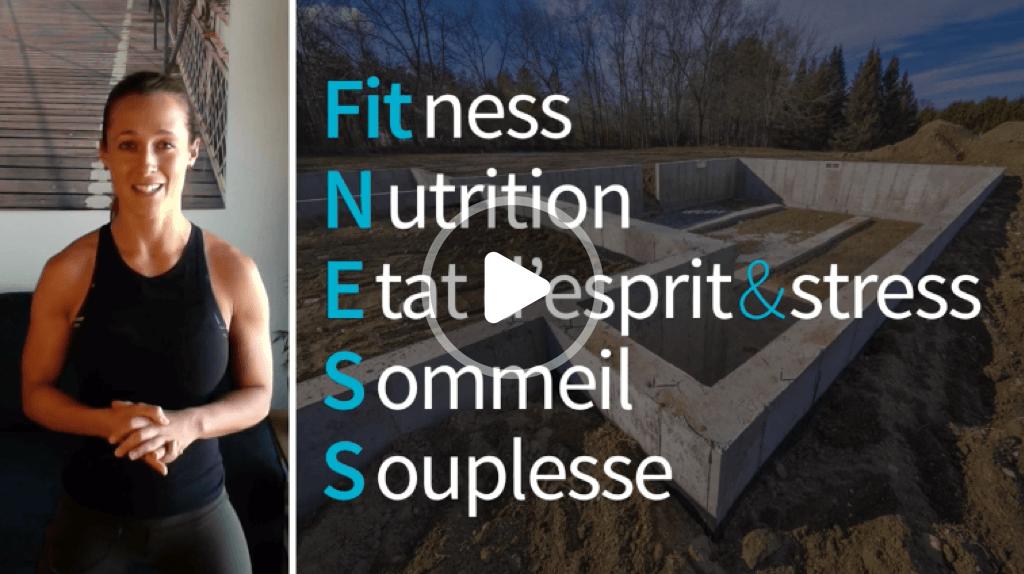 Fitness nutrition état d'esprit & stress sommeil souplesse