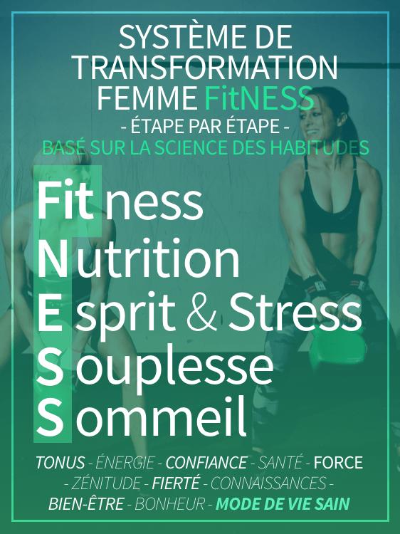 système de transformation Femme fitness étape par étape basé sur la science des hbaitudes
