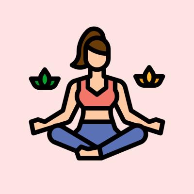 icon femme méditation