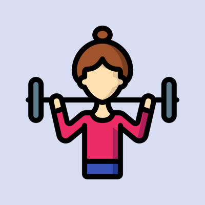 icon weight lifting woman