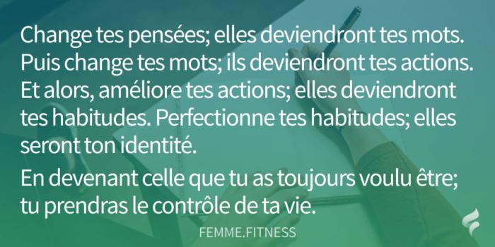 citation femme fitness sur les habitudes de vie